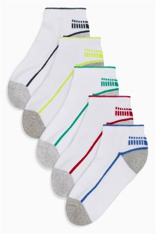 Sporty Trainer Socks Five Pack (Older Boys)