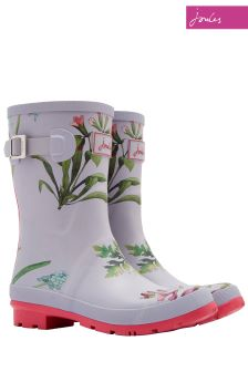 Joules Silver Botanical Molly Welly