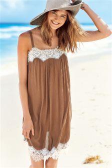Rust Lace Cami Dress