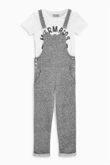 Dungarees And T-Shirt Set (3-16yrs)