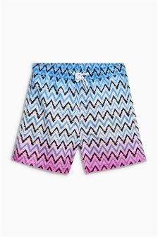 Zig Zag Print Swim Shorts (3mths-16yrs)
