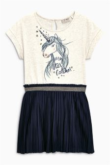 Unicorn Print Dress (3-16yrs)
