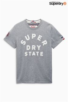 Superdry Grey State Logo T-Shirt