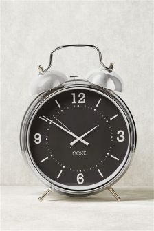 Extra Large Chrome Alarm Clock