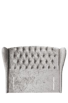 Glitz Pewter Sherlock Upholstered Headboard