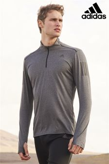 adidas Run Grey Response Half Zip Top
