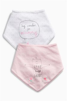Mum And Dad Dribble Bibs Two Pack