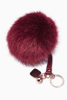 Faux Fur Pom Keyring