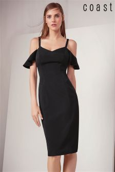 Coast Black Bardot Dress