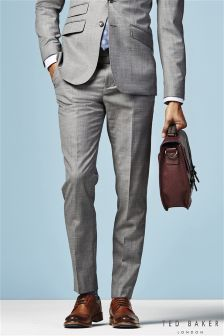 Ted Baker Grey CanalT Suit Trouser