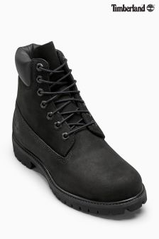 "Timberland® Black Nubuck 6"" Premium Icon Boot"
