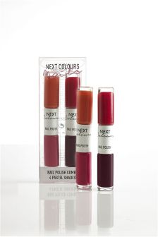 Set Of 4 Nail Reds Polishes