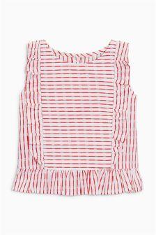 Stripe Frill Blouse (3mths-6yrs)
