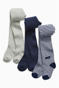 Stripe Tights Three Pack (0mths-6yrs)