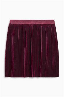 Velvet Pleat Skirt (3-16yrs)