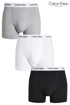 Black/Grey/White Calvin Klein Boxers Three Pack