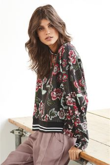 Jacquard Floral Sweat Top