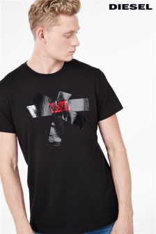 Diesel® Black Tape Logo T-Shirt