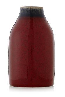 Red Reactive Ceramic Vase
