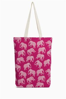 Elephant Print Shopper
