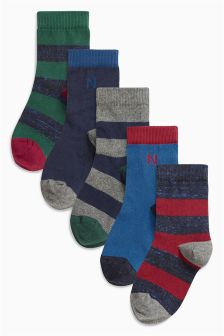 Rugby Stripe Socks Five Pack (Older Boys)