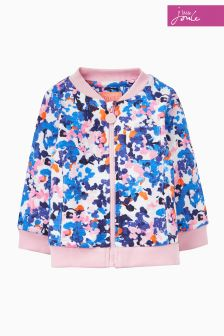Joules Blue/Pink Ditsy Jessie Bomber