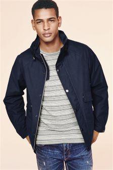 Navy Hooded Big Pocket Jacket