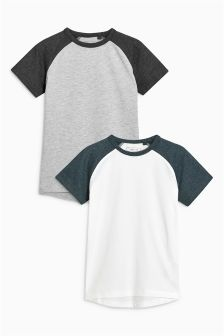 Raglan Sleeve T-Shirts Two Pack (3-16yrs)