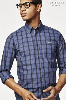 Ted Baker Navy Newmarl Check Shirt