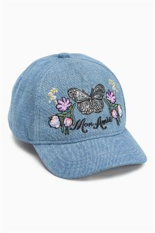 Butterfly Embroidered Cap (Older Girls)