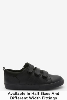 Triple Strap Leather Shoes (Older Boys)