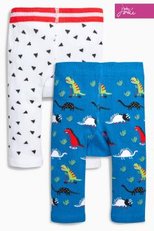 Joules Baby White/Blue Leggings Two Pack