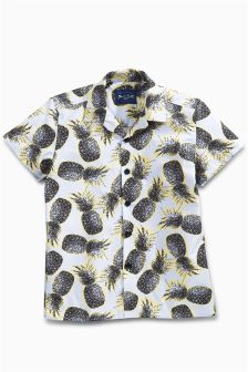 Short Sleeve Pineapple Shirt (3-16yrs)