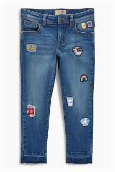 Badge Skinny Jeans (3-16yrs)