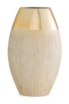 Large Gold Glimmer Ceramic Vase