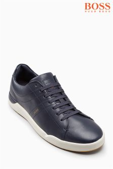 Boss Orange Navy Stillness Cupsole Trainer