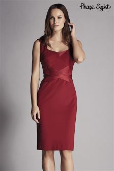 Phase Eight Red Daniela Satin Mix Dress