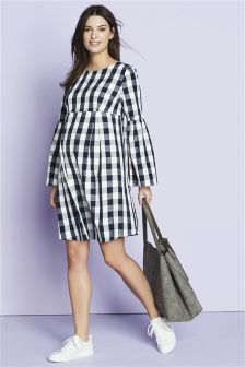 Maternity Flute Sleeve Dress
