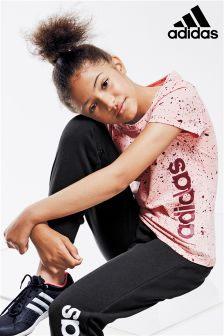 adidas Pink Speckle Logo T-Shirt