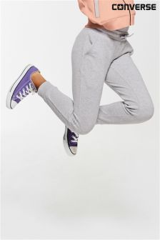 Converse Grey Ribbed Panel Jogger