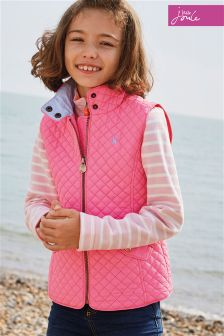 Joules Pink Silvan Quilted Gilet