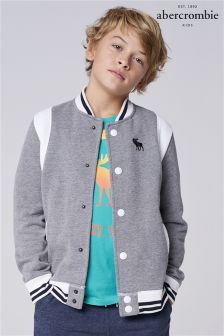 Abercrombie & Fitch Grey Varsity Jacket