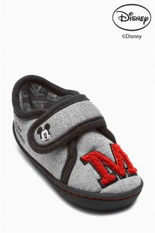 Grey Mickey Mouse™ Slippers (Younger Boys)