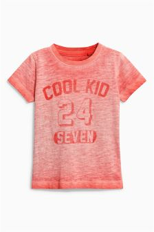 Wave Dye Short Sleeve Slogan T-Shirt (3mths-6yrs)