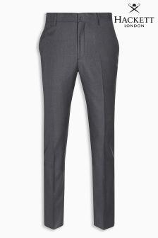 Hackett Grey Sharkskin Texture Trouser