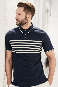 Chest Stripe Poloshirt