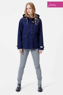 Joules French Navy Coast Waterproof Hooded Jacket