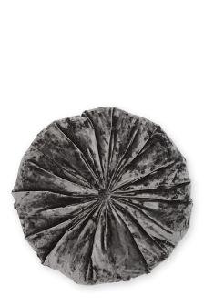 Round Crushed Velvet Cushion