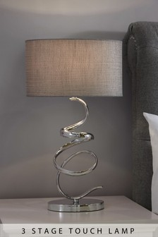 Ribbon Chrome Touch Lamp