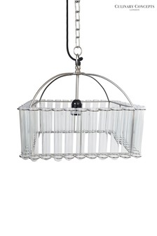 Culinary Concepts Brass Pasteur Square Test Tube Chandelier